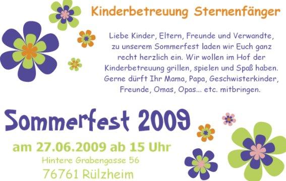 """terminvorschau - """"sternenfänger"""" kinderbetreuung und kinderhotel, Einladung"""